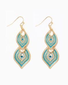 Cassidy Double Drop Earrings | Charming Charlie - turquoise