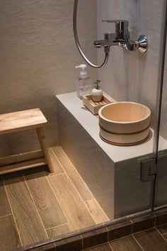 A Japanese Apartment in Singapore — Design Anthology Japanese Interior Design, Japanese Design, Japanese Colors, Bathroom Styling, Bathroom Interior Design, Japanese Bathroom, Japanese Shower, Muji Style, Design Japonais