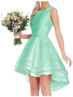 0f31659f6d9546 Dressylady 2019 Simple A Line High Low Homecoming Dress for Juniors Short  Prom Bridesmaid Dress at Amazon Women s Clothing store