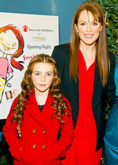 Julianne Moore with daughter Liv