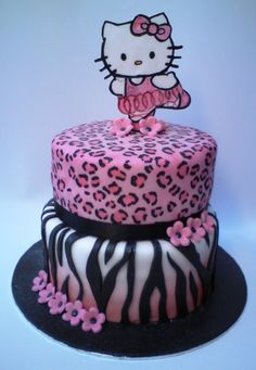 Hello Kitty leopard By slean on CakeCentral.com