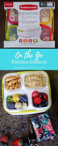 Don't let your diet get sidelined by a busy schedule! Take control with on the go portion control with @Rubbermaid #BalancedBites! AD via @thatbaldchick