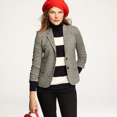 jcrew: schoolboy blazer is classic donegal tweed