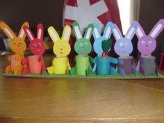 semainier lapin ou bricolage pour Pâques