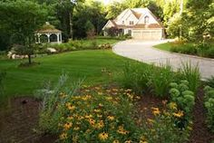 Driveway landscaping idea.
