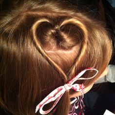 Simple and cute Valentines Day Hair