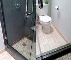I LOVE my shower doors. So sleek and modern, they make our small bathroom look like a spa!  Until soap scum starts accumulating, that is.  Luckily, I came up wi…
