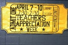 Parties and Decorations: Teachers Appreciation Week HOLLYWOOD on a ZERO Budget