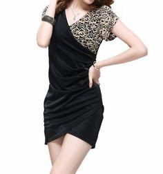 Black Hollow Lace Wrap Dress