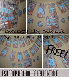 FREE Printable Party!  Mommy's Idea Notebook
