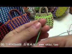 OK编织吧视频教程 第八集(上)时尚双色手提包的钩法