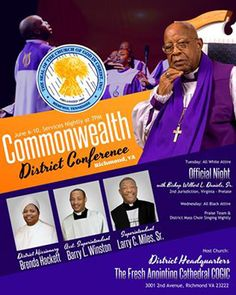 Bishop G. Wesley Hardy. Sr. & the VA 4th Jurisdiction COGIC presents Workers' Conference 2015 on March 3rd-7th ft/ Pastor Quenti…   Nationwide ...