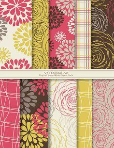 [Blooming Digital Scrapbook Paper Pack 8.5x11300 by VNdigitalart, $3.00]