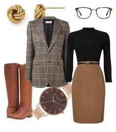 Untitled #20 by alishia-vogt on Polyvore featuring polyvore, fashion, style, Phase Eight, Yves Saint Laurent, Frye, Olivia Burton, Allurez, Ace and clothing