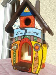 Vogelhaus-Vogelvilla, Nistkasten und Futterhaus...