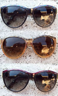 vintage Silver and Gold CatEye Sunglasses (more colors available) by OutofDateOptics, $15.00