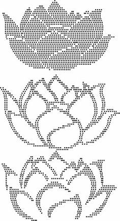 Lotus Embroidery Monogram, Beaded Embroidery, Cross Stitch Embroidery, Bead Loom Patterns, Beading Patterns, Cross Stitch Patterns, Graph Paper Art, String Crafts, Dot Art Painting
