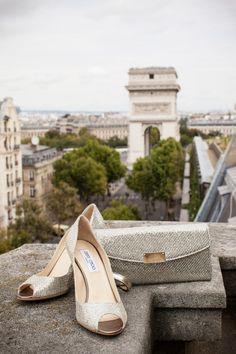 Metallic accessories: http://www.stylemepretty.com/destination-weddings/2015/03/14/romantic-paris-summer-wedding/   Photography: K Hulett - http://khpstudio.com/