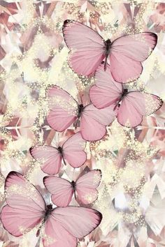 Imagen de butterfly, pink, and wallpaper