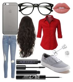 """""""🤓"""" by eminemily01 on Polyvore featuring Frame, Urban Decay, Vans, Lime Crime, LE3NO, Native Union and Amanda Rose Collection"""