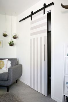 Perfect for small spaces! sliding door DIY