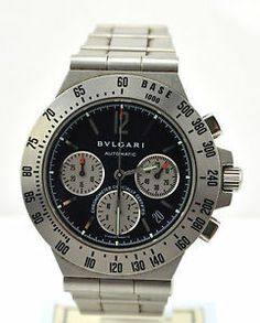 Bvlgari diagono profesional watch, bulgari, chronograph, stanless steel, Available at Mercia Jewellers, Coventry