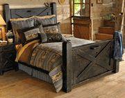 western black reclaimed barn-wood bed kingsize $2200