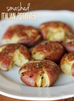 Six Sisters Smashed Italian Red Potatoes
