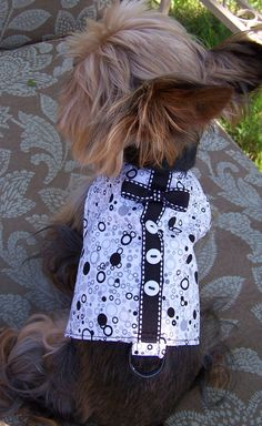 Hey, I found this really awesome Etsy listing at https://www.etsy.com/listing/106298107/dog-harness-vest-bubbles-in-black-and