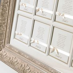 Classy table seating plan. Can be hand made, just need to get a classic vintage type frame