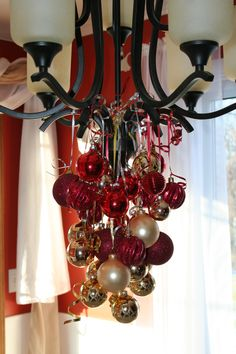 111 best christmas chandelier images on pinterest christmas deco christmas decorations bulbs from chandelier aloadofball Image collections