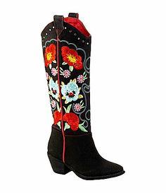 Grazie Howdy WesternInspired Boots #Dillards
