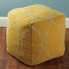 Check out Soho Dhurrie Cube Pouf Ottoman: 8 Colors from Shades of Light