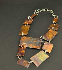 """""""Jewellery is much more satisfying to me than other medium…I am drawn to clean, simple shapes with a twist. Simple Shapes, Handcrafted Jewelry, Copper, Sterling Silver, Personalized Items, Detail, Artwork, Handmade Chain Jewelry, Handmade Jewelry"""