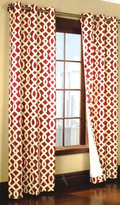Curtain & Bath Outlet - Trellis Thermalogic Grommet Curtain red
