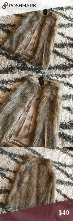 NWT Oversized Fur Vest Size XS Love! Faux fur. Boutique Jackets & Coats Vests