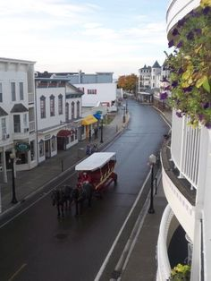 Mackinac Island... fudge, lilacs, beautiful scenery and no cars.