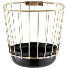 Incipit Home Canasta Enamel Wire Basket ($195) ❤ liked on Polyvore featuring home, home decor, small item storage, wire baskets, wire wall hooks and wire home decor