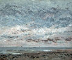 Marée basse à Trouville by Gustave Courbet Walker Art Gallery Liverpool Bbc, Gustave Courbet, Art Fund, Walker Art, Galleries In London, Seascape Paintings, Landscape Paintings, Tumblr, To Infinity And Beyond