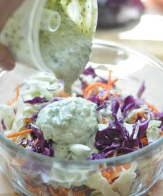 Slaw recipe for fish tacos ~ my mouth yearns for this