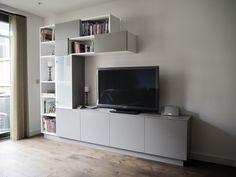 Modular living room cabinet Living Room Cabinets, Flat Screen, Furniture Design, Projects, Log Projects, Living Room Storage Cabinets, Flatscreen