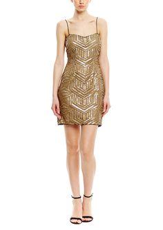 AIDAN Allover Sequin Cocktail Dress $109.99 | ideel