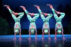 The frogs in Swan Lake. Photography courtesy of Guangdong Acrobatic Troupe (Soldier Acrobatic Troupe of the Political Department of Guangzhou Military Region). Acro Dance, Dance Ballet, The Spectator, Ballet Photos, Aerial Silks, Ballet Beautiful, China, Swan Lake, Dance Photography