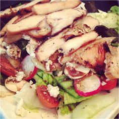 Dukan chicken salad