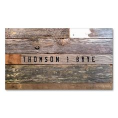 Vintage Country Nature Rustic Reclaimed Wood Business Card Template