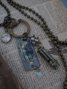 Fragments of a Gypsy's Life... antique and vintage assemblage necklace. $36.00, via Etsy.