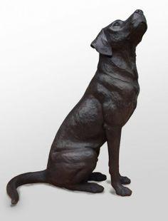 Bronze Domestic Animal #sculpture by #sculptor David Cemmick titled: 'Faithful Friend labrador' #art