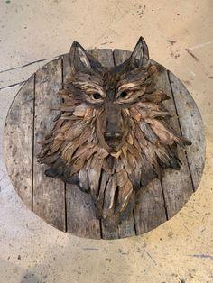 Driftwood Ideas, Driftwood Crafts, Wooden Crafts, Sculpture Ideas, Sculpture Art, Sculptures, Twig Art, Moose Head, Driftwood Sculpture