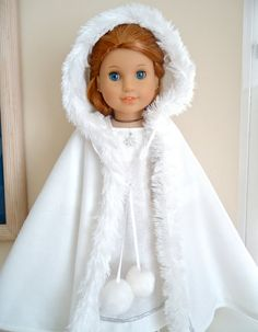 """Snow Princess"", Winter gown and cape"