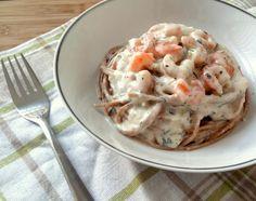 molho de camarão para massa
